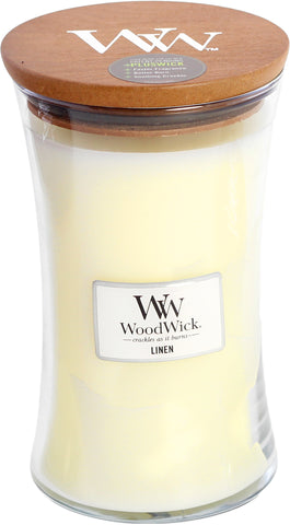 Scent of the Month WoodWick Linen Large Candle