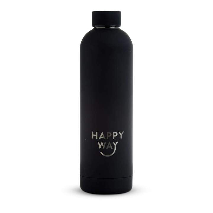 Black Matte Drink Bottle 750ml