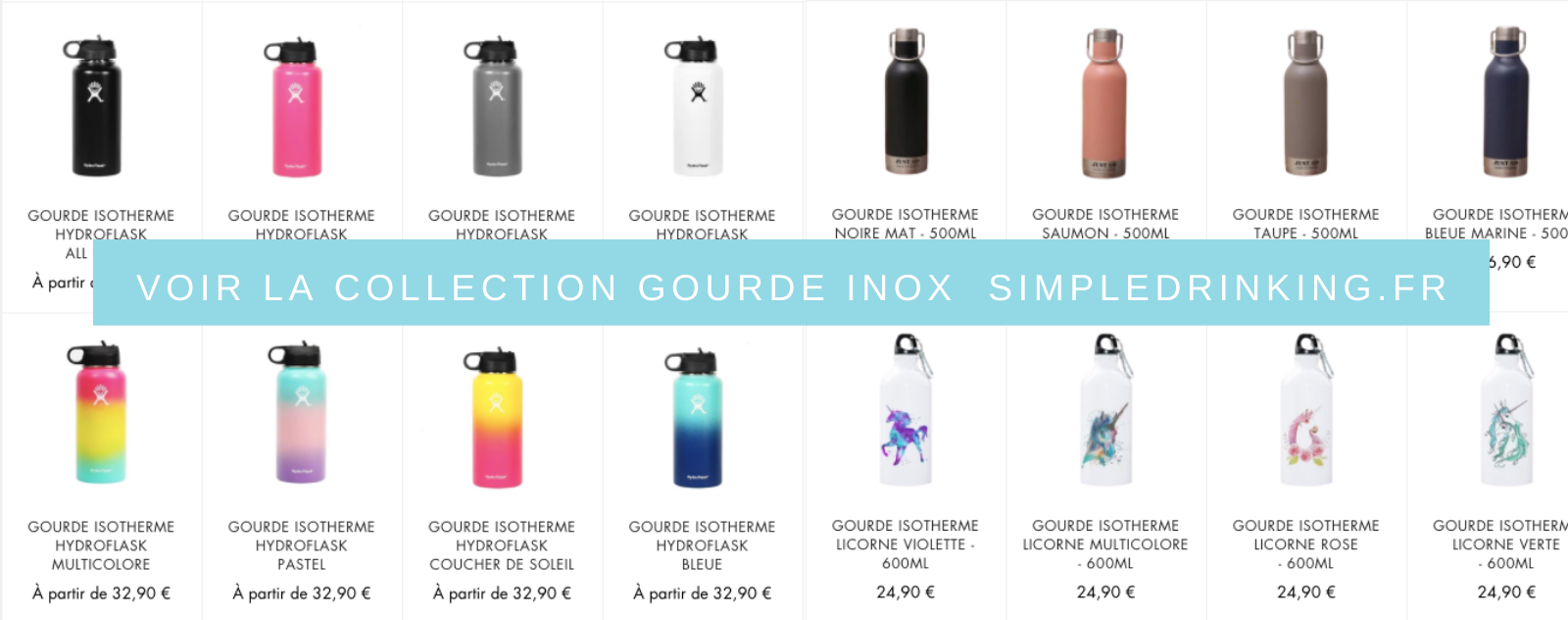 Découvrir Collection Gourde Inox Isotherme