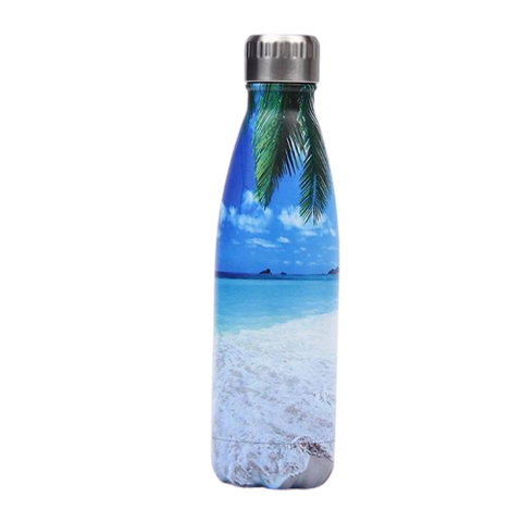 Bouteille isotherme plage tropciale