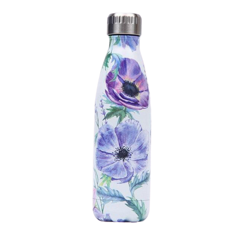Bouteille Isotherme Fleur Mauve - 500ml | SimpleDrinking