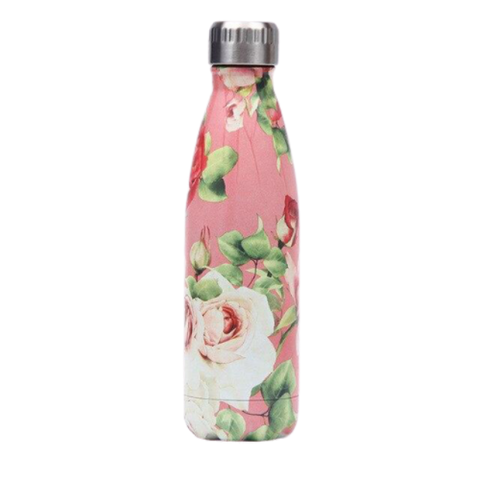 Bouteille Isotherme Rose Blanche - 500ml | SimpleDrinking