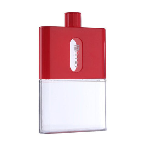 gourde plastique flasque rouge 500ml