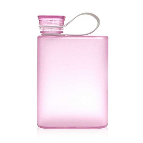 Gourde Plastique Flasque Rose - 400ml