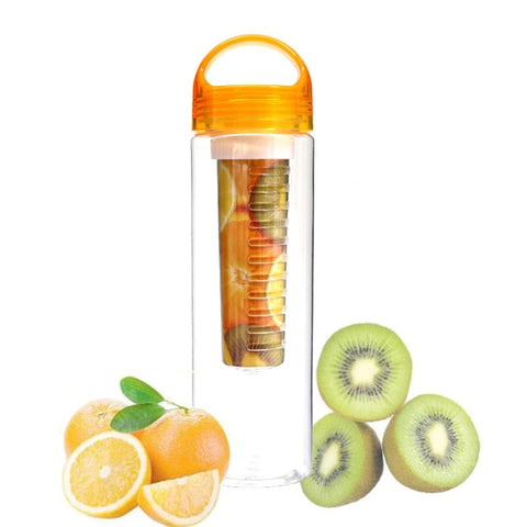 Bouteille infuseur fruits orange