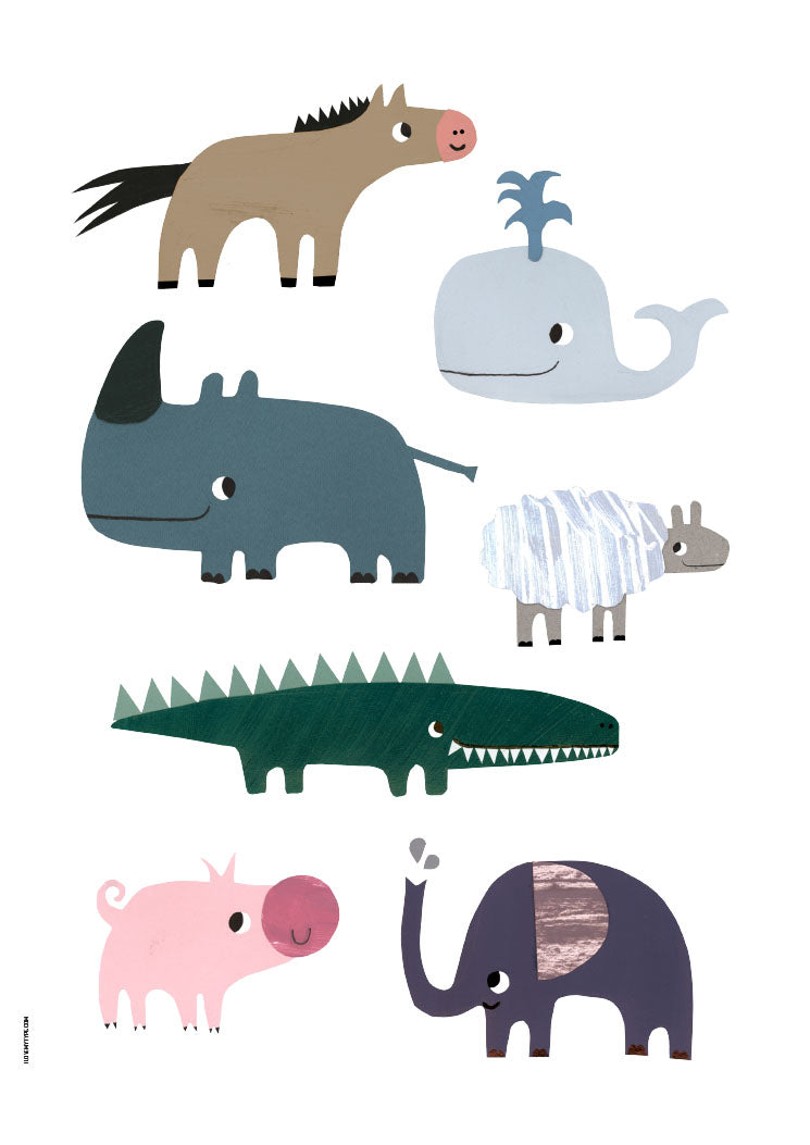 Plakat Tirsdag: Happy Animals fra I Love My Type