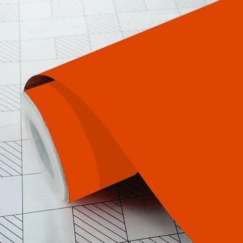 Mat ensfarvet folie - 034 orange - Signcom