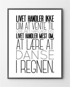 You added <b><u>Moderne plakater - Danse i regnen - 30x40 cm.</u></b> to your cart.