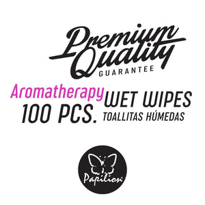 Papilion® Aromatherapy Wet Wipes 100 & 120 Sheets with Vitamin-E & Aloe, and Plant Based Fragrance with Cap Seal