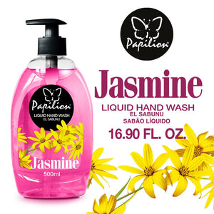 Papilion® 16.9 Clean Natural with Plant Based Premium Fragrance Liquid Soap, Light Jasmine Scent