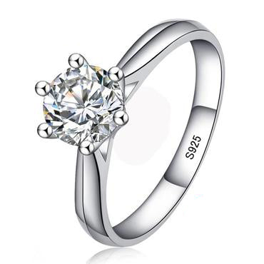 Solitaire CZ Stone Wedding Ring