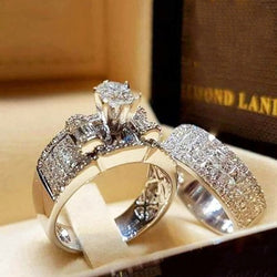 Luxury Crystal Zircon Wedding Set