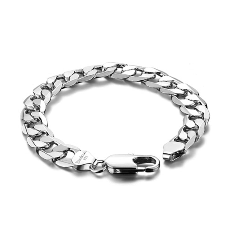 Wide Stylish Link Bracelet
