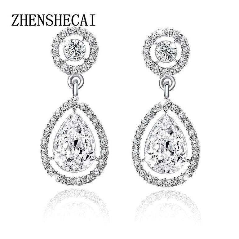 Crystal Teardrop Earrings