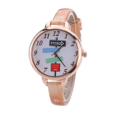 Indicator Pattern Casual Quartz Wrist Watch