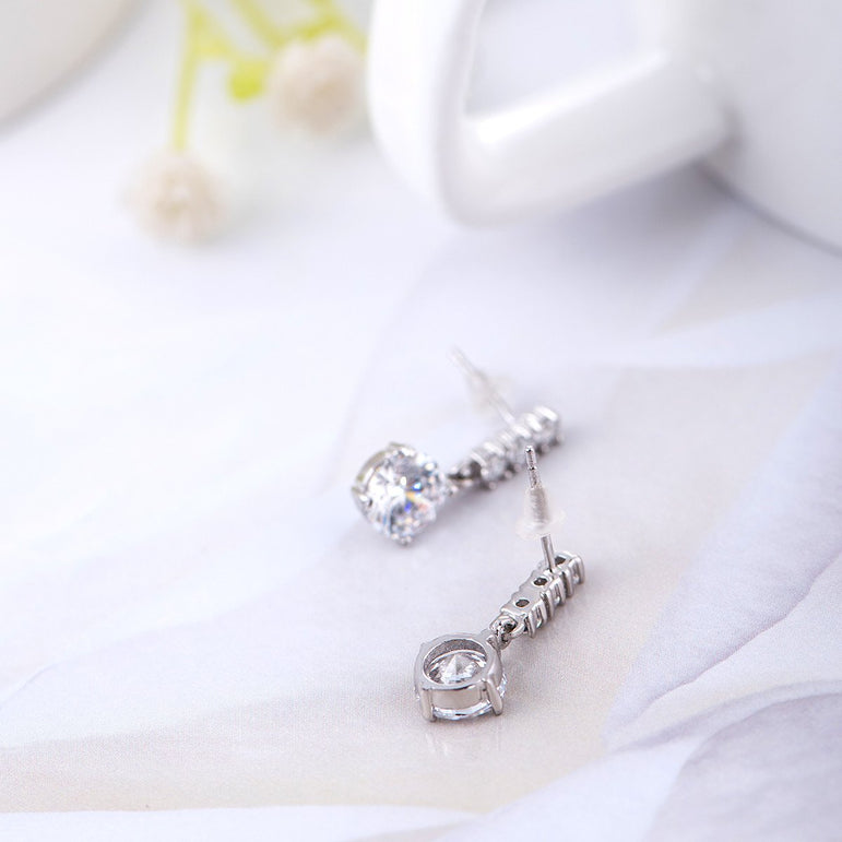 925 Sterling Silver Earrings Hang Style