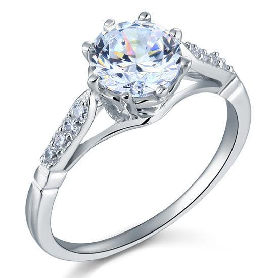 2ct Round Cut Simulated Diamond Engagement Ring