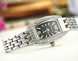 Silver Bracelet Women Luxury Rhinestone Watch