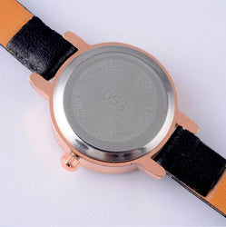 Gogoey Rhinestone Leather Small Band Watch