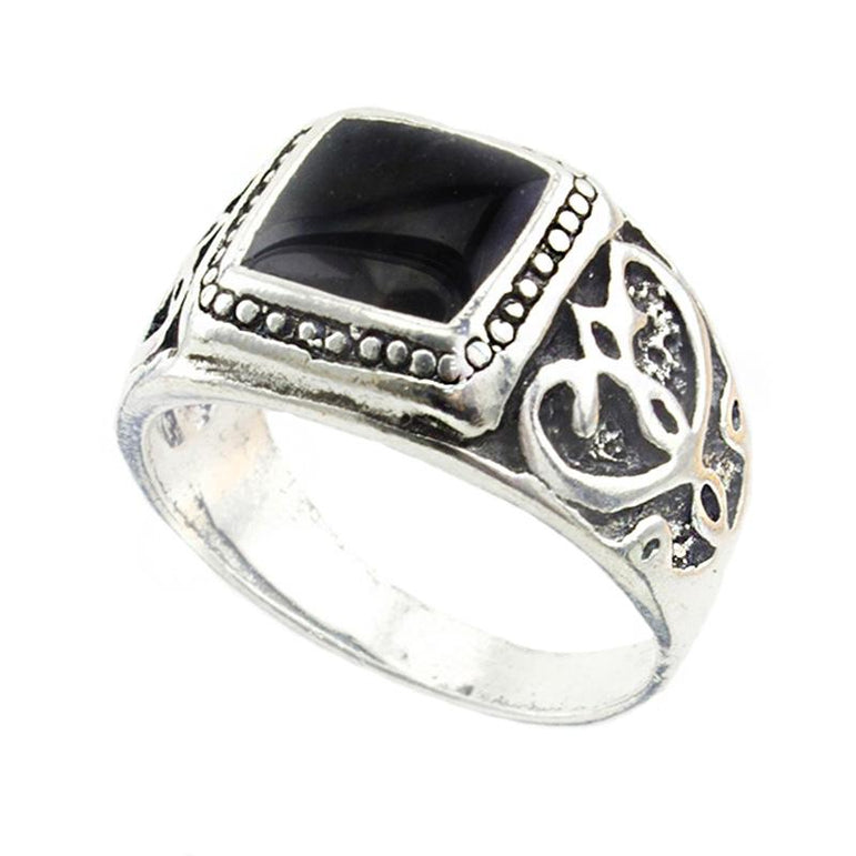 High Quality Male Rings Jewelry for Men Bohemian Style Antique Silver Plated Punk Rings for Men
