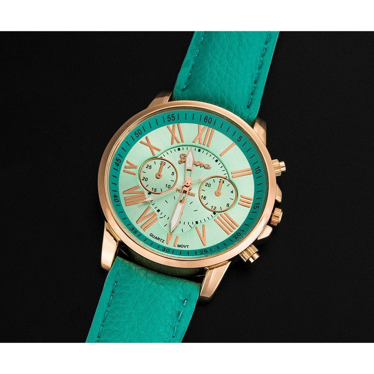 Leather Pu Quartz Watch