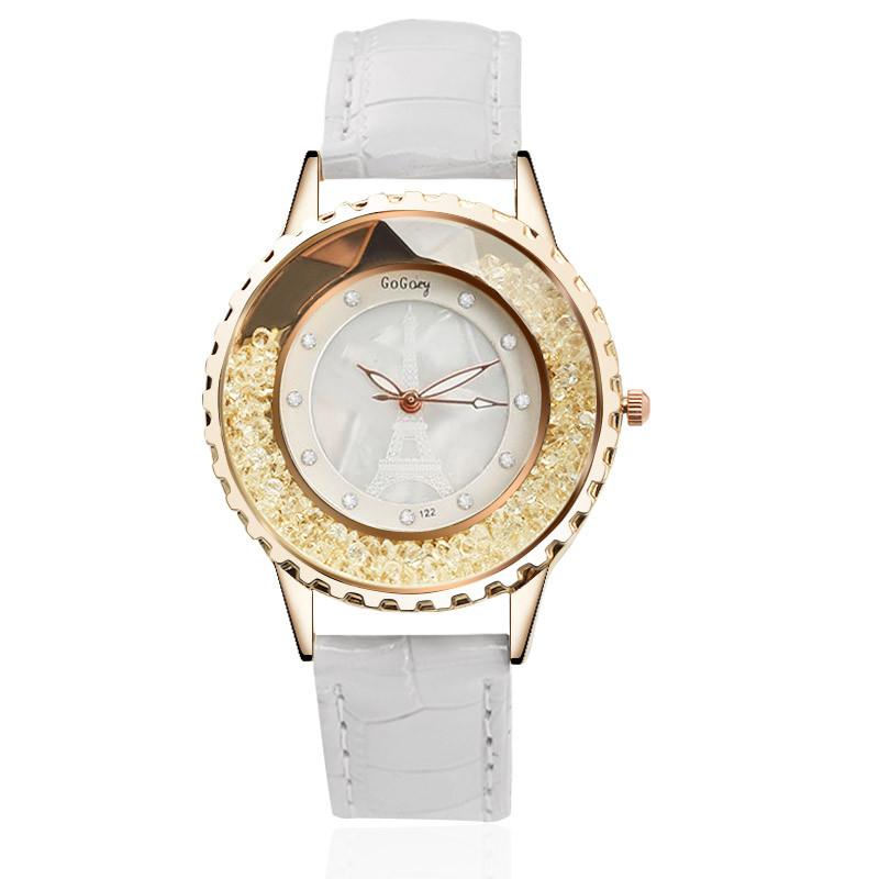 Bling Effect Diamond Rose Gold Watch