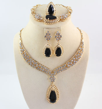 Africa Crystal Black Gem Necklaces