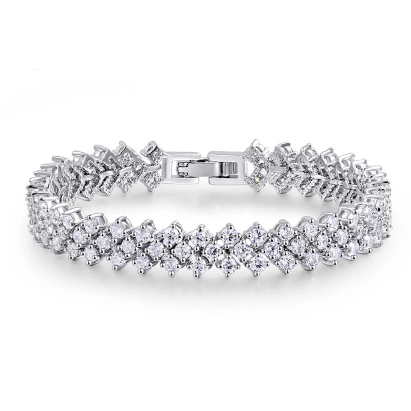 Zircon Costume Diamond Trio Bracelet