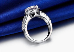 YHAMNI Real Solid 925 Silver Wedding Rings Jewelry for Women 2 Carat Sona CZ Diamond Engagement Rings Accessories XMJ510