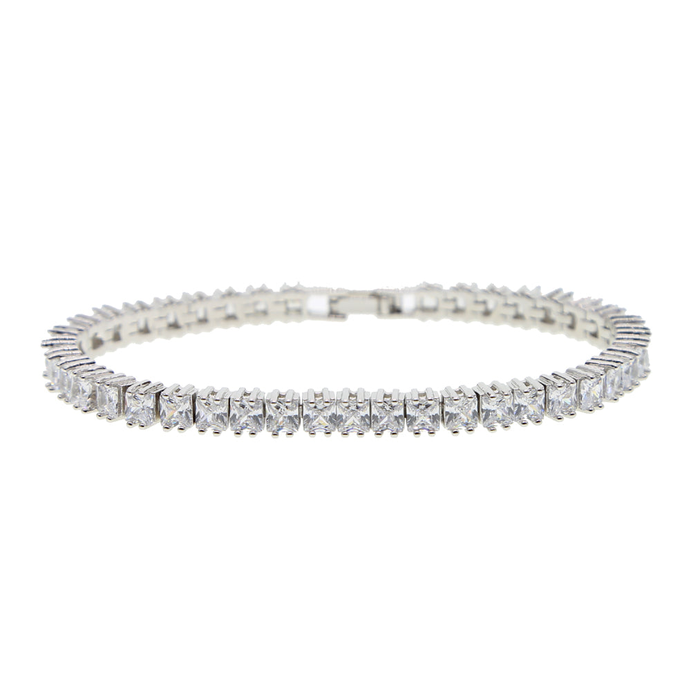 Square Paved Tennis Bracelet
