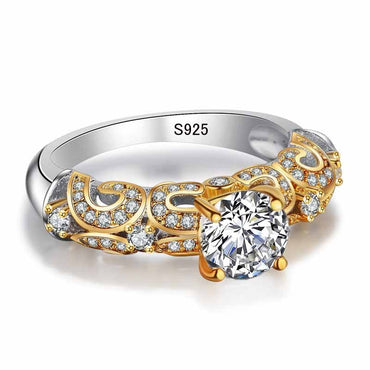 925 Sterling Silver CZ Diamond Ring