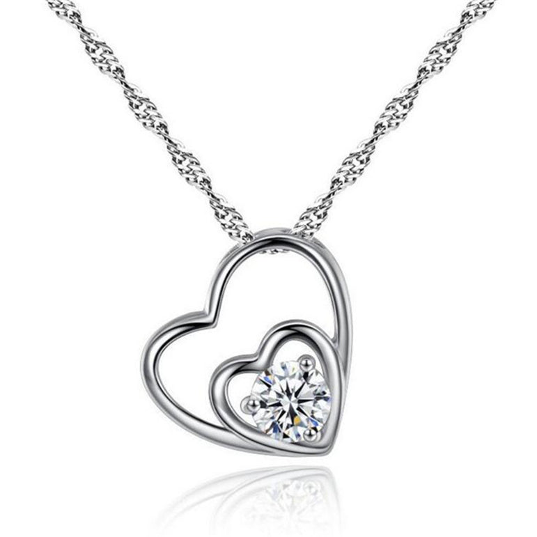 Heart Silver Pendant Necklace