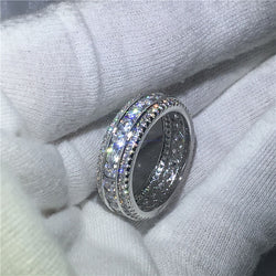 Full Round CZ Engagement Ring