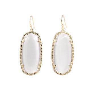 Stylish Oval Cat Stone Earrings
