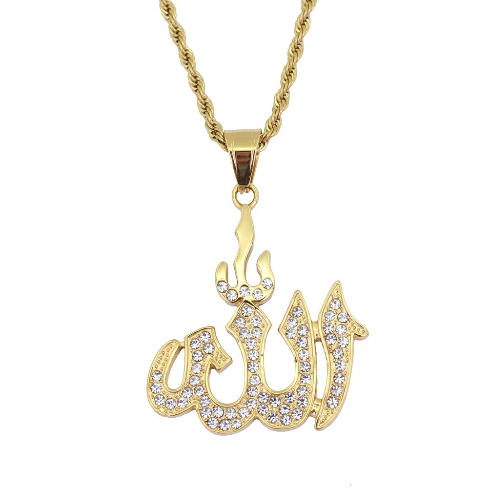 Islamic Muslims Diamonds Pendant Necklace