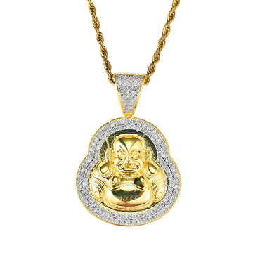 Buddha Diamonds Pendant Necklace
