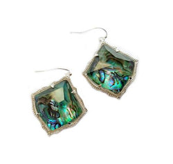 Kite Style Abalone Dangle Earring