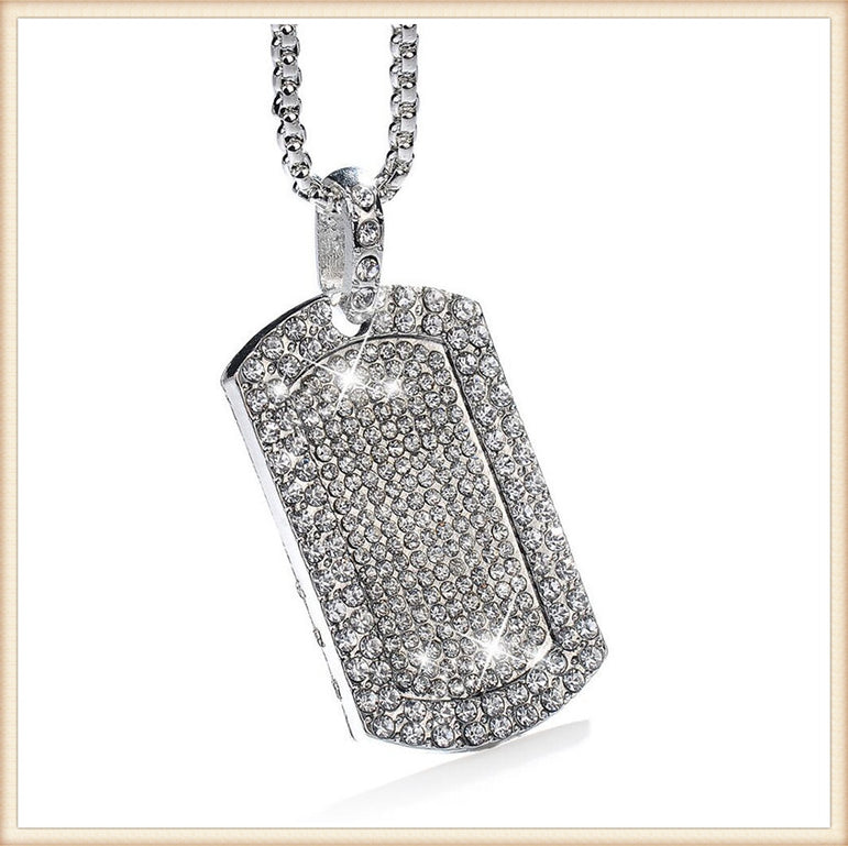 Bling Bling Dog Tag Necklace