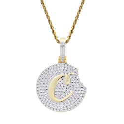 Hip Hop Cookie Diamonds Pendant Necklace