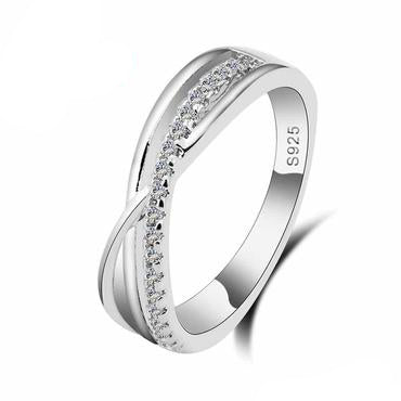 Luxury Letter Xcross Promise Ring