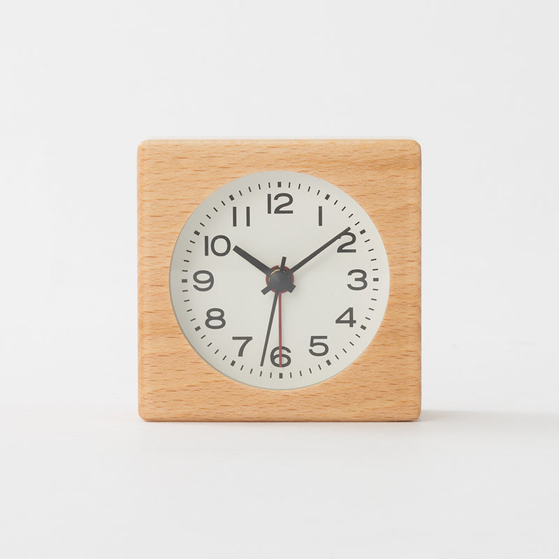 Beech Clock (With Alarm Function)