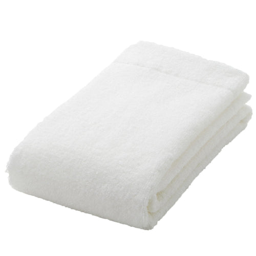 Organic Cotton Blend Thin Face Towel Off White