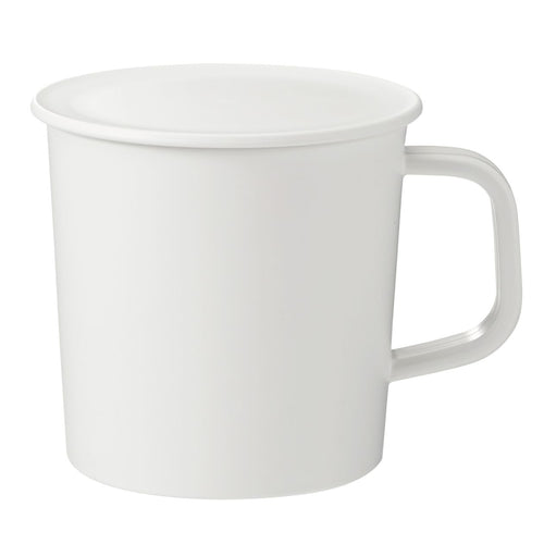 PP Mug With Lid / White