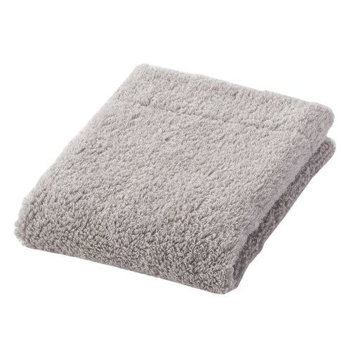 Organic Cotton Blend Medium Thick Hand Towel Light Grey