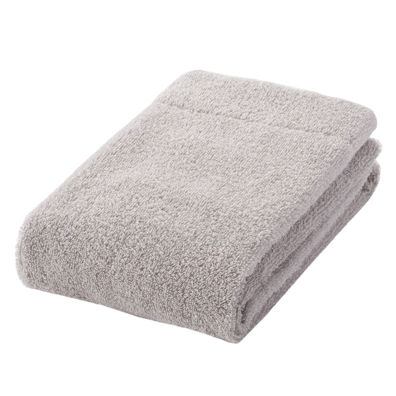 Organic Cotton Blend Thin Face Towel Light Grey