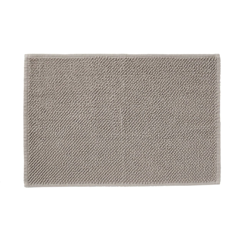 Cotton Chenille Bath Mat M Light Grey
