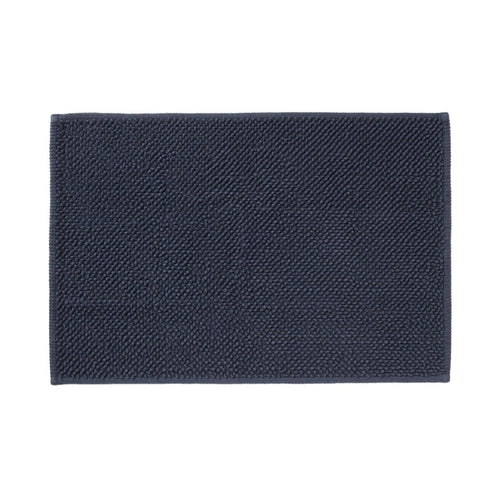 Cotton Chenille Bath Mat M Navy