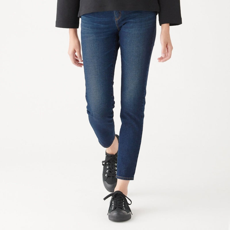 4 Way Stretch Denim Skinny Pants Ankle Length