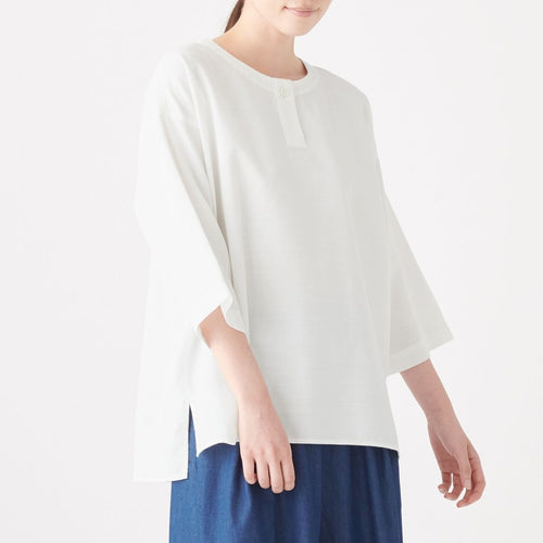 Xinjiang Cotton Dobby Pullover Blouse