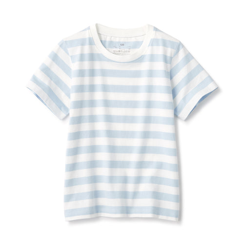 Indian Cotton Jersey Border SS T-Shirt Kids